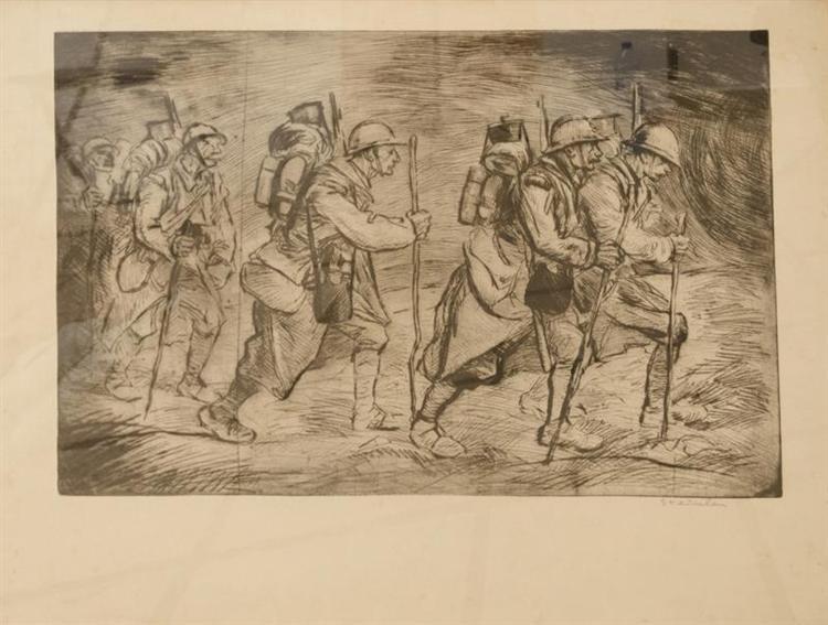 Escouade en Marche, 1917 - Theophile Steinlen