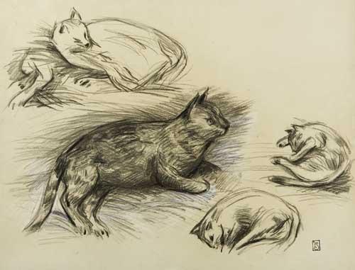 Etude des Chats - Théophile Alexandre Steinlen