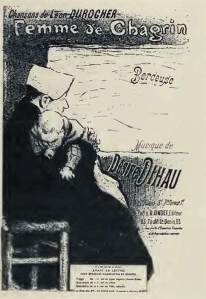 Femme de Chagrin, 1894 - Theophile Steinlen