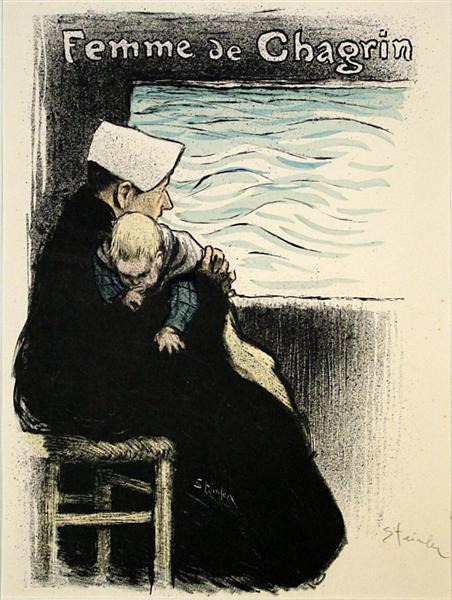 Femme de Chagrin, 1894 - Теофиль Стейнлен