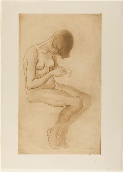 Femme Se Faisant Les Ongles, 1902 - Theophile Steinlen