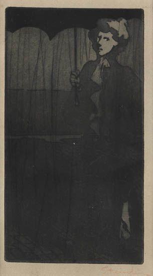 L'Averse, 1898 - Theophile Steinlen