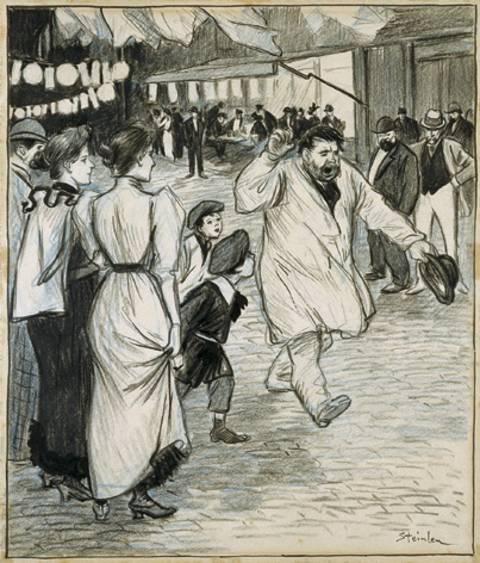 L'Electeur, 1894 - Theophile Steinlen