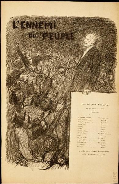 L'Ennemi du Peuple, 1899 - Theophile Steinlen