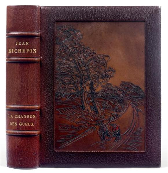La Chanson des Gueux with Steinlen leather binding - Theophile Steinlen