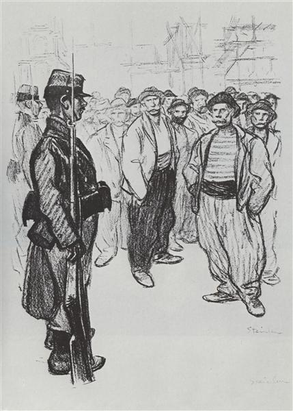 La Greve des Juifs, 1898 - Theophile Steinlen