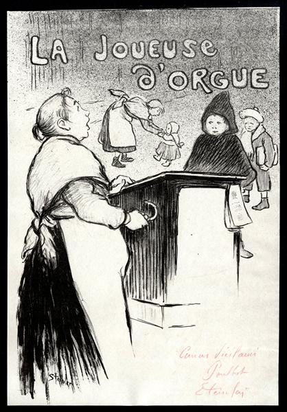 La Joueuse D'Orgue, 1894 - Theophile Steinlen