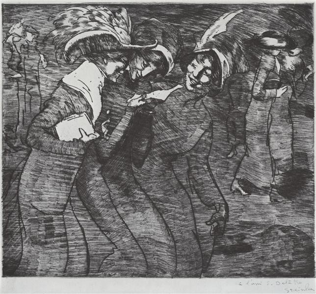 La Lettre, 1912 - Theophile Steinlen