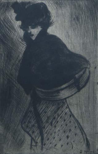 La Modiste, 1898 - Theophile Steinlen