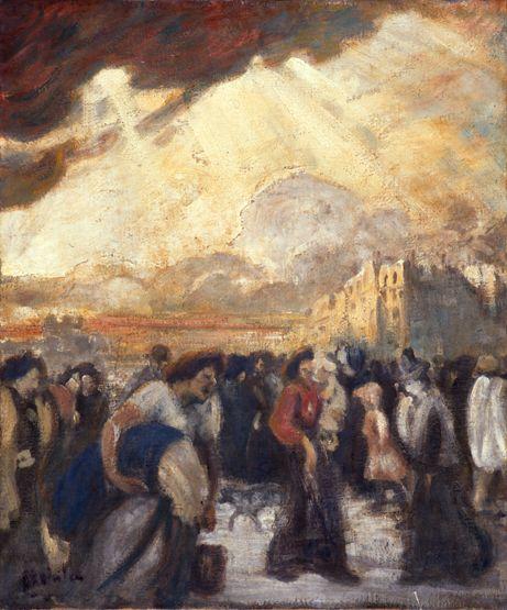 La Rentree des Ouvrieres - Theophile Steinlen