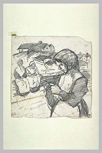 La Tricoteuse - Theophile Steinlen