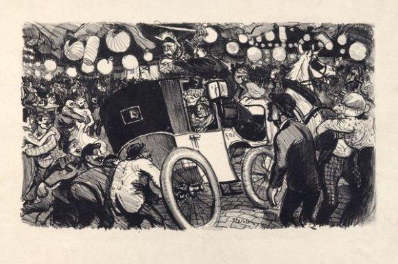 Le Fiacre de L'Etat, 1901 - Theophile Steinlen
