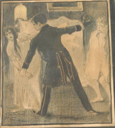 Le Fils  inscribed to Sainte Croix - Theophile Steinlen
