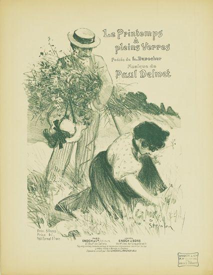 Le Printemps a Pleins Verres, 1897 - Theophile Steinlen