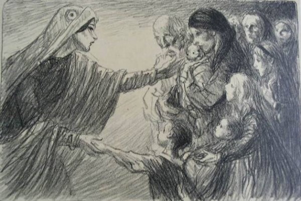 Le Secours National, 1915 - Theophile Steinlen