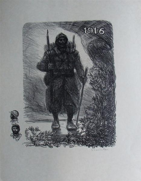 Le soldat, 1916 - Theophile Steinlen