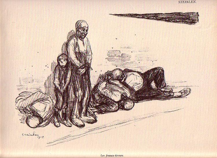 Les Francs-Tireurs, 1915 - Theophile Steinlen