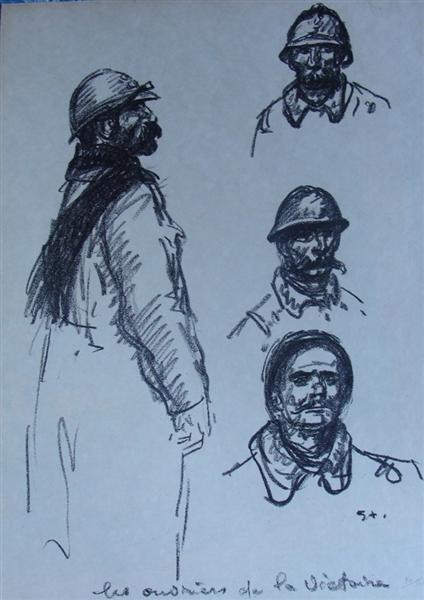 Les ouvriers de la Victoire, 1916 - Theophile Steinlen