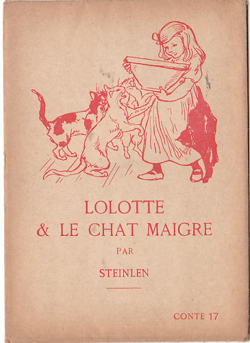 Lolotte and skinny cat - Théophile Alexandre Steinlen