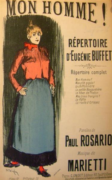 Mon Homme, 1892 - Theophile Steinlen