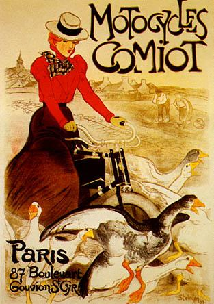 Motocycles Comiot, 1899 - Theophile Steinlen