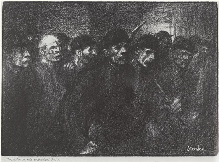 Ouvriers Sortant de L'Usine, 1903 - Théophile-Alexandre Steinlen