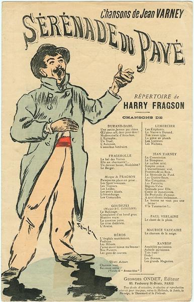 Serenade du Pave, 1892 - Теофиль Стейнлен