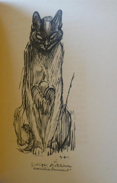 Siamese cat ink drawing - Theophile Steinlen