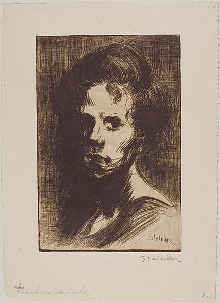Tete de Femme, 1898 - Théophile Alexandre Steinlen