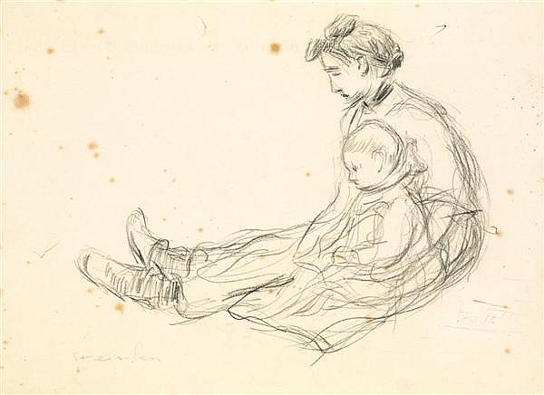 Woman and child - Theophile Steinlen
