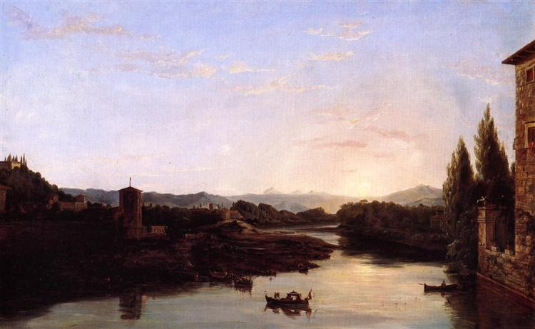 View of the Arno, 1838 - Thomas Cole