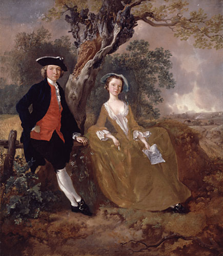 An Unknown Couple in a Landscape, c.1755 - Thomas Gainsborough