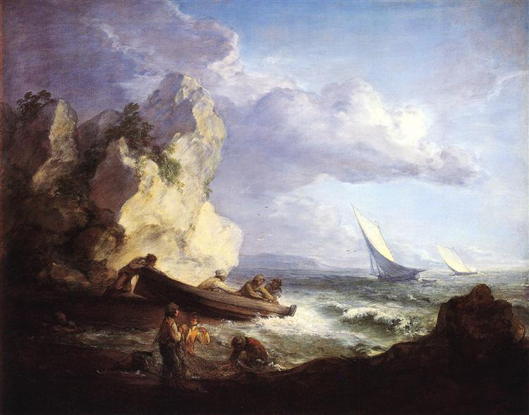 Seashore with Fishermen, 1781 - c.1782 - Thomas Gainsborough