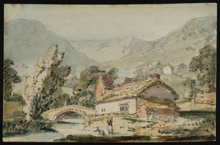 Scene in the Lake District, near Buttermere, 1797 - Thomas Girtin