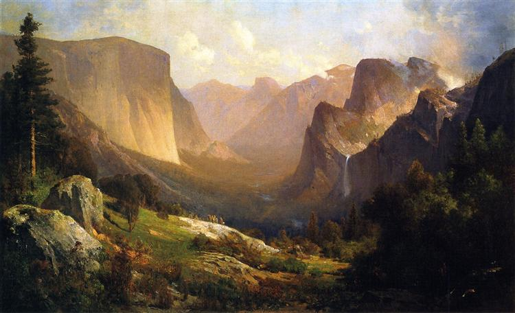 A View up Yosemite Valley, 1871 - Thomas Hill