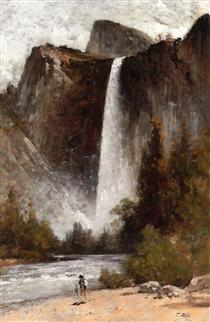 At the Foot of Bridal Veil - Thomas Hill