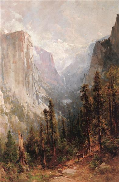 El Capitan with Clouds Rest beyond, Yosemite, 1901 - Thomas Hill