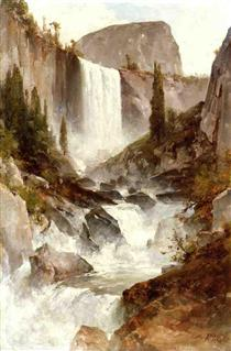Falls in Yosemite - Thomas Hill