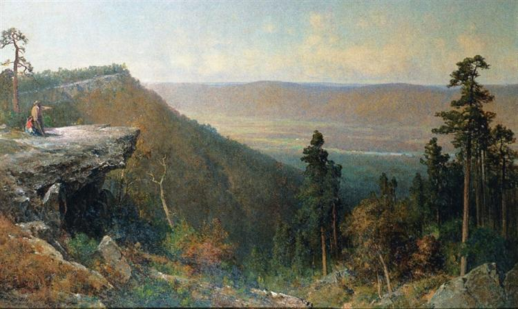Hudson River Valley from the Catskill Mountain House, 1872 - Thomas Hill