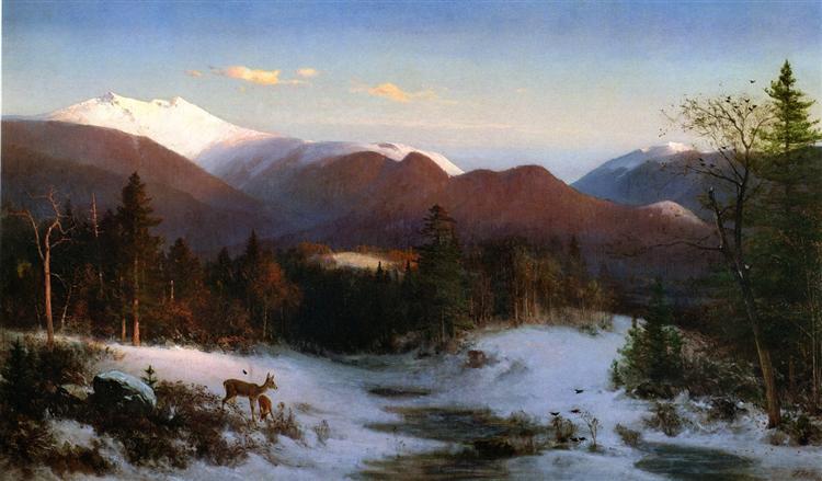 Mount Lafayette in Winter, 1870 - Thomas Hill