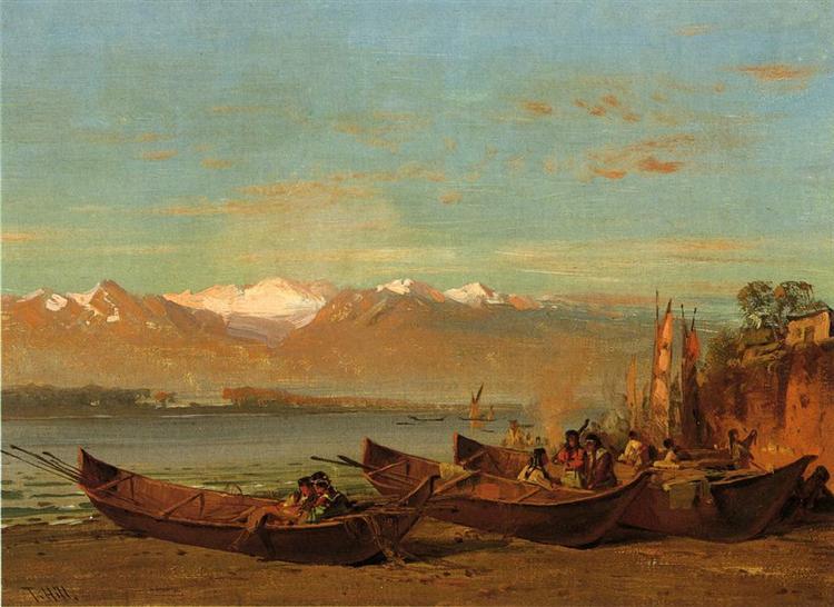 The Salmon Festival, Columbia River, 1888 - Thomas Hill