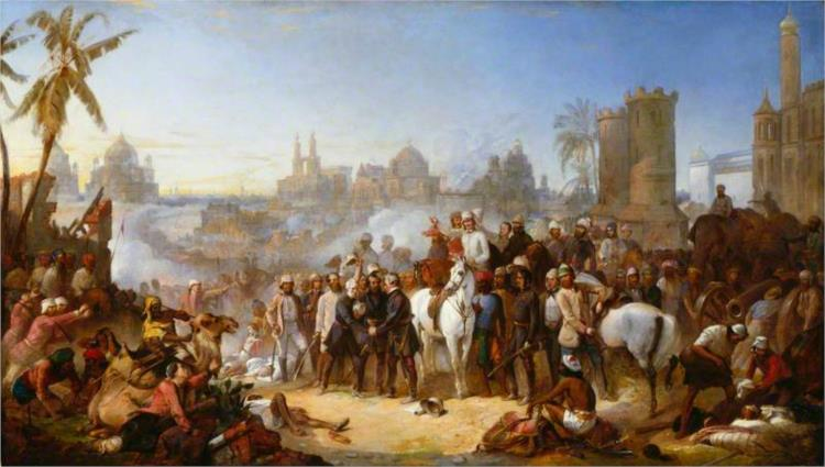 The Relief of Lucknow, 1857, 1859 - Thomas Jones Barker