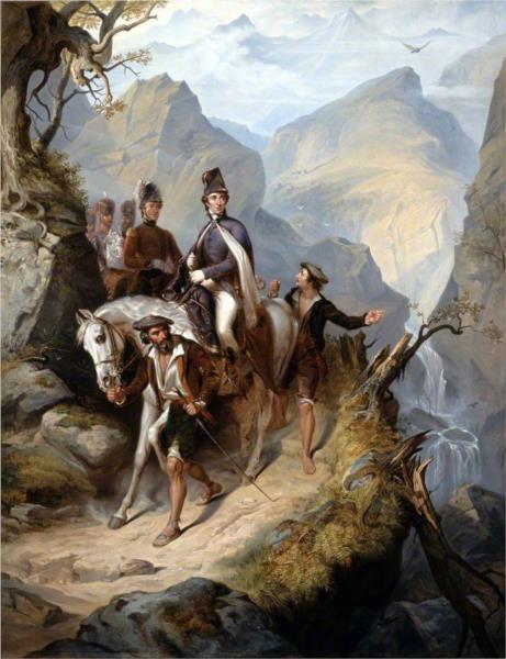 Wellington at Sorauren, 27 July 1813, 1853 - Thomas Jones Barker