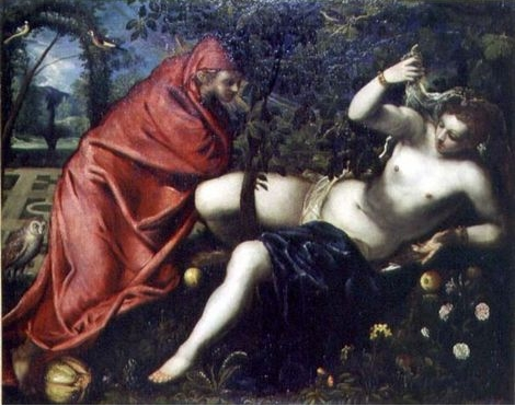 Angelica and the hermit - Tintoretto