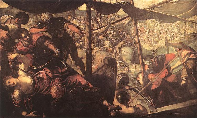 Battle between Turks and Christians, 1588 - 1589 - Tintoretto