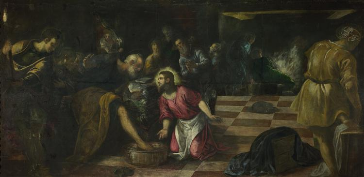 Christ washing the Feet of the Disciples, 1575 - Tintoretto