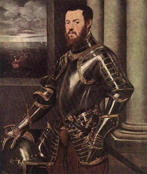 Man in Armour, c.1550 - Tintoretto