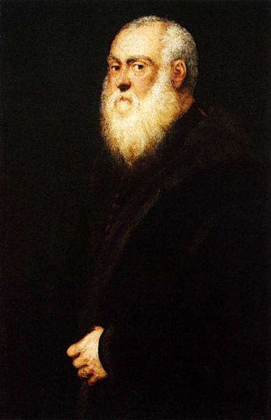 Portrait of a White Bearded Man, c.1545 - Tintoretto
