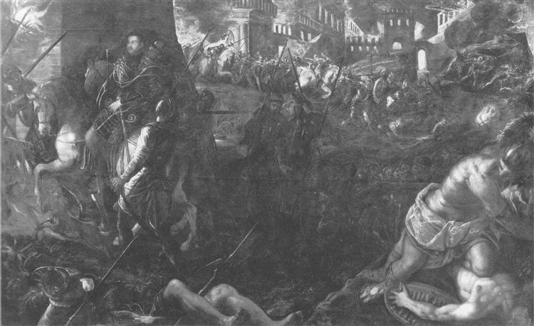 Taking Milan by Federico II Gonzaga, 1578 - 1580 - Tintoretto