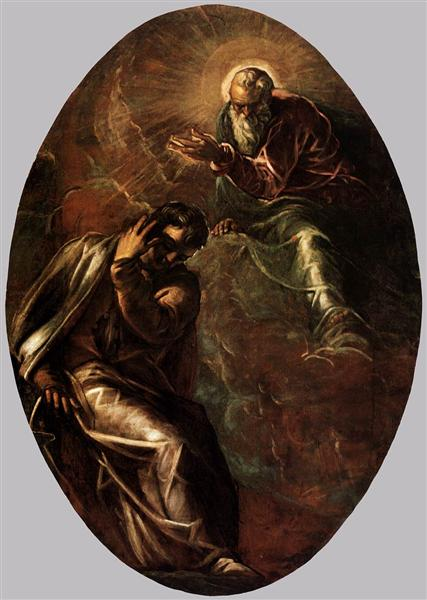 The Eternal Father Appears to Moses, 1577 - 1578 - Tintoretto